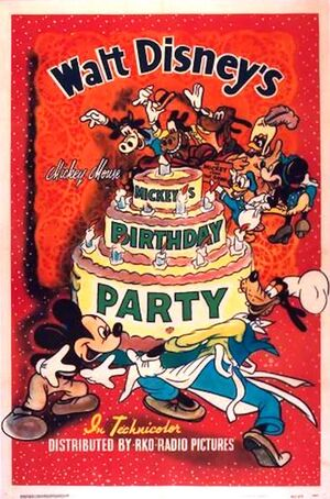 D mickeys birthday party poster