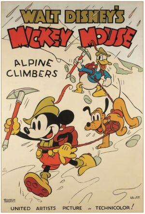 D alpine climbers poster