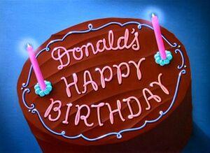 D donalds happy birthday