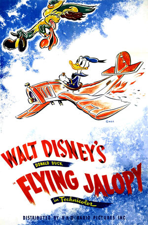 D the flying jalopy poster