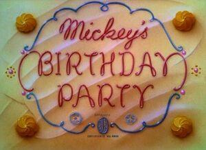 D mickeys birthday party
