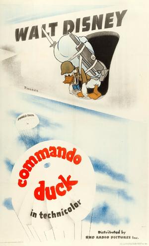 D commando duck poster