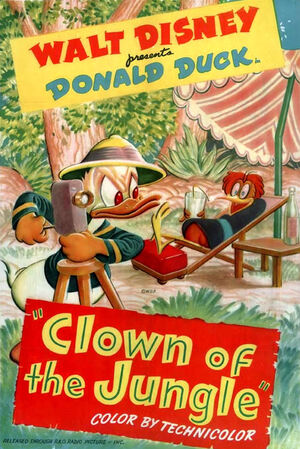 D clown of the jungle poster