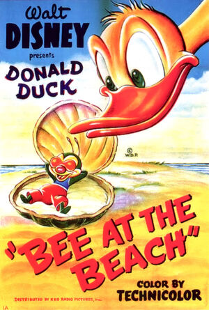 D bee at the beach poster
