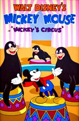 D mickeys circus poster