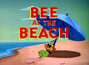D bee at the beach