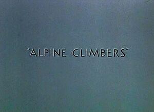 D alpine climbers