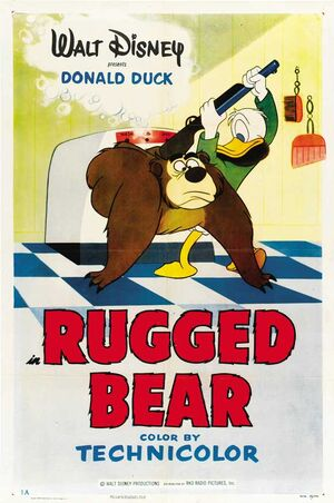 D rugged bear poster