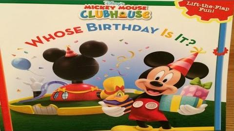 "DISNEY MICKEY MOUSE ""WHOSE BIRTHDAY IS IT?""- Read Aloud - Story book for kids & children"