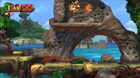 Donkey Kong Country Tropical Freeze - 100% Walkthrough - 1-2 Shipwreck Shore (Puzzle and KONG)
