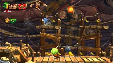 Donkey Kong Country Tropical Freeze - 100% Walkthrough - 3-6 Cannon Canyons (Puzzle and KONG)