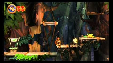 Donkey Kong Country Returns ~ World 5-7 (Wigglevine Wonders) Puzzle Piece K-O-N-G Letters Guide-0