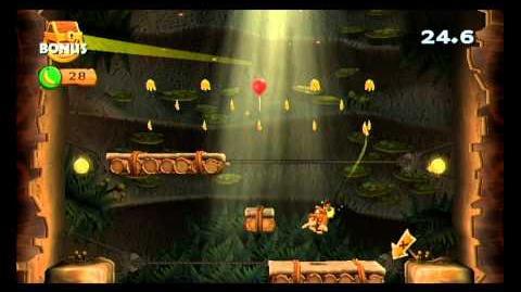 Donkey Kong Country Returns ~ World 5-1 (Vine Valley) Puzzle Piece K-O-N-G Letters Guide