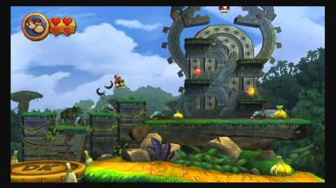 Donkey Kong Country Returns ~ World 1-1 (Jungle Hijinxs) Puzzle Piece K-O-N-G Letters Guide-0