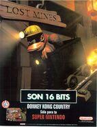Donkey kong country promo-esp