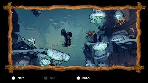 Donkey Kong Country Tropical Freeze - Level 2-A Crumble Cavern All Puzzle Pieces KONG Letters
