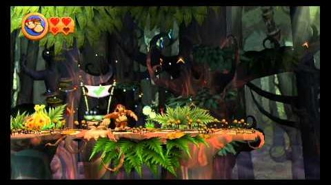 Donkey Kong Country Returns ~ World 5-6 (Springy Spores) Puzzle Piece K-O-N-G Letters Guide