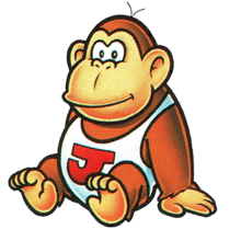 Donkey Kong Jr. sitting down