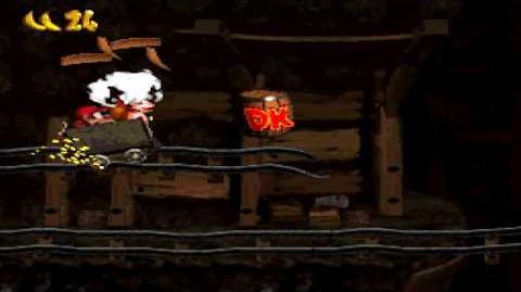 Donkey Kong Country (SNES) - Monkey Mines - Mine Cart Carnage