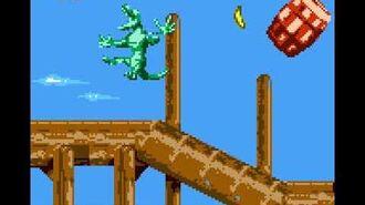 Donkey Kong Land III (GBC) - Cape Codswallop - Red Wharf