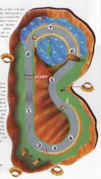 Ancient lake map