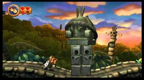 Donkey Kong Country Returns 100% (3-6 Temple Topple)