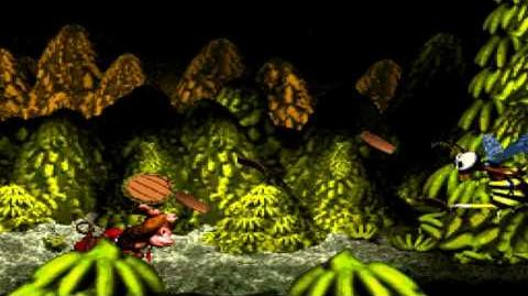 Donkey Kong Country (SNES) - Vine Valley - Bumble B. Rumble