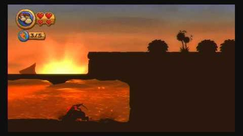 Donkey Kong Country Returns ~ World 1-4 (Sunset Shore) Puzzle Piece K-O-N-G Letters Guide