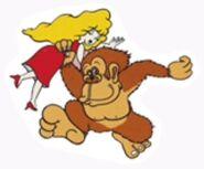 Pauline Donkey Kong Sticker