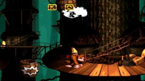 Donkey Kong Country (SNES) - Vine Valley - Tree Top Town