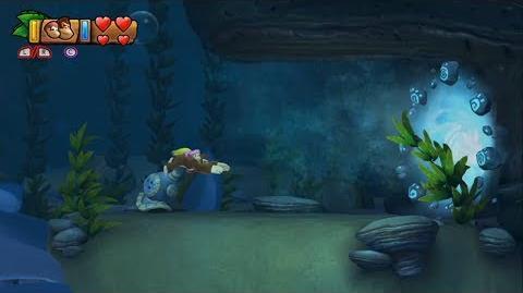 Donkey Kong Country Tropical Freeze - Level 3-5 Twilight Terror Unlocking Bonus Stage 3-A