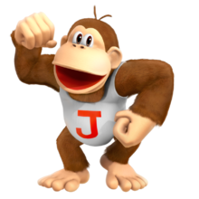 Donkey kong jr. 3D render model super mario smash bros country tropical freeze by nibroc rock-dax3k9c