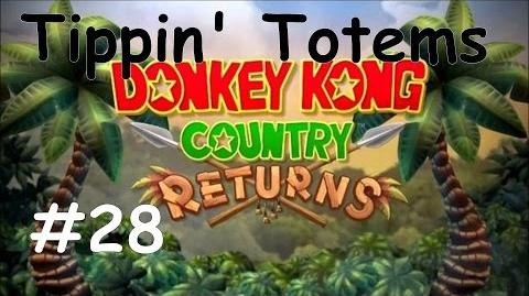 Donkey Kong Counrty Returns 100% Walkthrough Part 28 - Tippin' Totems