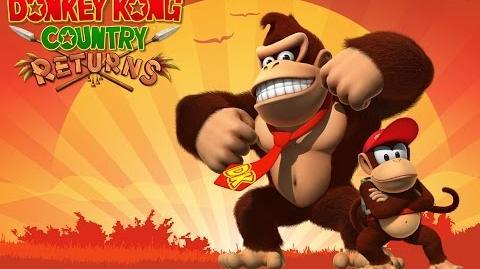 Donkey Kong Country Returns 100% (Intro 1-1 Jungle Hijinx)
