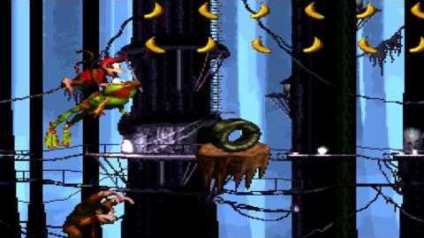 Donkey Kong Country (SNES) - Gorilla Glacier - Rope Bridge Rumble