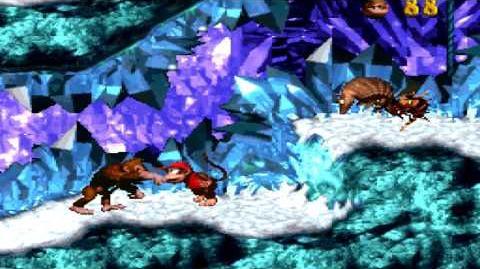 Donkey Kong Country (SNES) - Gorilla Glacier - Slipslide Ride