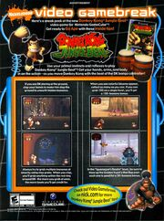 Donkey Kong Jungle Beat video game print ad NickMag May 2005