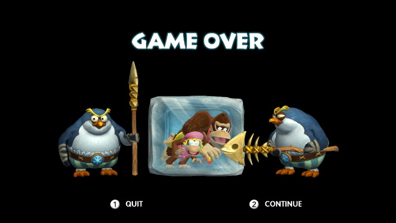 Image - Donkey kong country tropical freeze game over.jpg ...