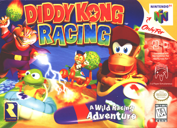 Diddy Kong Racing North American Boxart