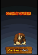 DK Jungle Climber game over screen