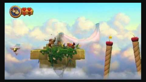 Donkey Kong Country Returns ~ World 9-1 (Golden Temple) Puzzle Piece Guide