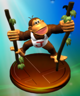 Donkey kong jr super smash bros melee trophy