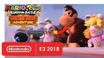 Mario + Rabbids Kingdom Battle Donkey Kong Adventure - Release Date Announcement - Nintendo E3 2018