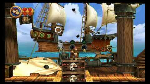 Donkey Kong Country Returns ~ World 3-3 (Mast Blast) Puzzle Piece K-O-N-G Letters Guide