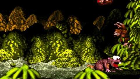 Donkey Kong Country (SNES) - Gorilla Glacier - Really Gnawty Rampage