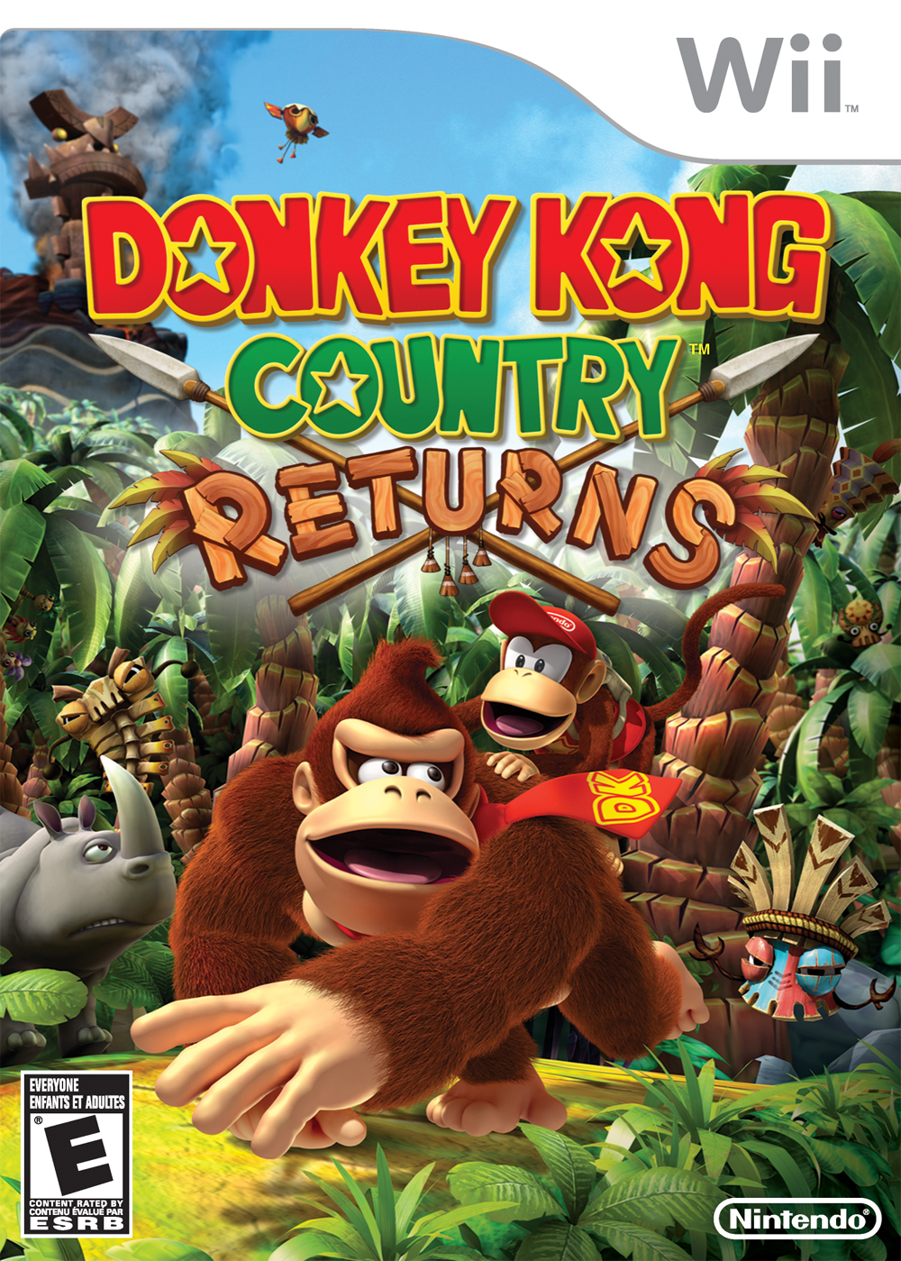 Image result for donkey kong country returns box art