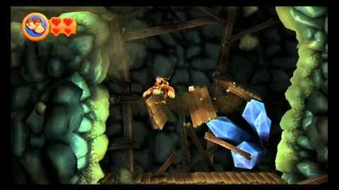 Donkey Kong Country Returns ~ World 4-1 (Rickety Rails) Puzzle Piece K-O-N-G Letters Guide-3
