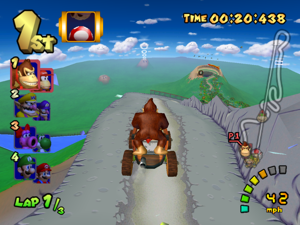 Image result for mario kart dk mountain