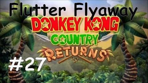 Donkey Kong Country Returns 100% Walkthrough Part 27 - Flutter Flyaway