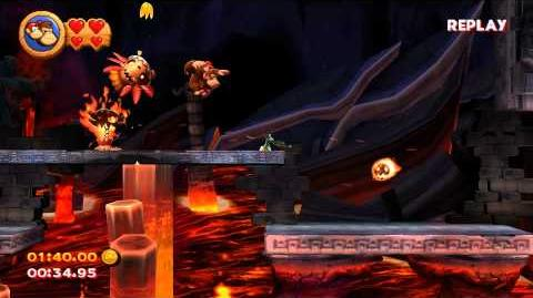 Donkey Kong Country Returns 8-1 Furious Fire time attack (TAS)
